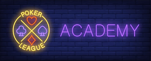 Neon znak akademii ligi liga