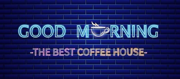 Neon znak kawiarnia