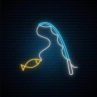 Neon znak połowów.