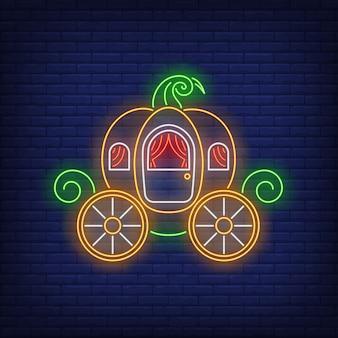 Neon znak przewozu dyni