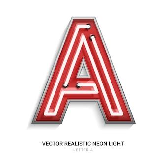 Neonowa litera a