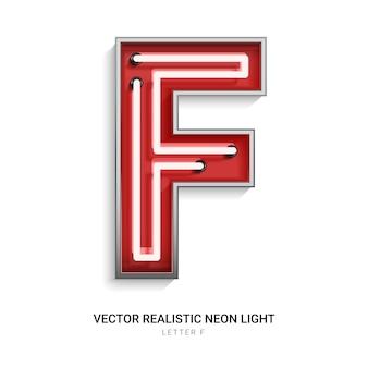 Neonowa litera f.