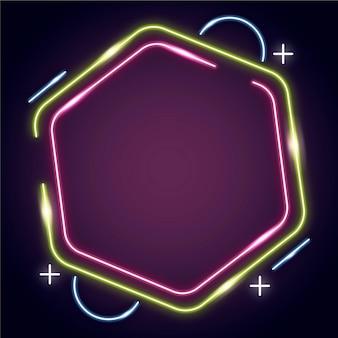 Neonowa rama abstrakcyjny wzór