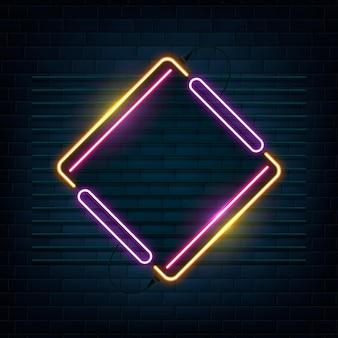 Neonowa rama projektowa