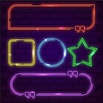 Neonowe geometryczne kolorowe ramki