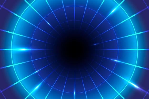 Neonowe niebieskie światło geometryczne tło