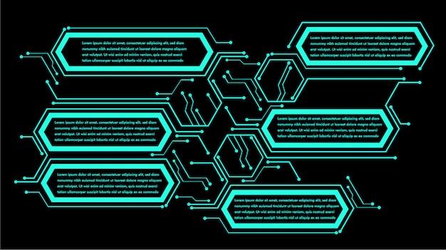 Neonowe pudełko tekstowe infographic