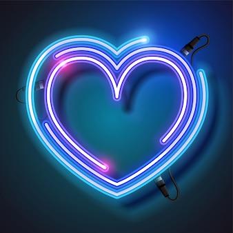 Neonowe serce tło