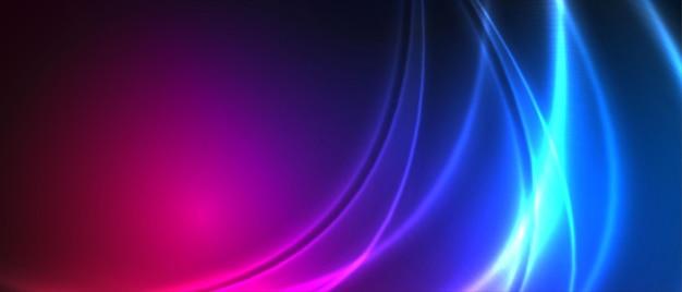 Neonowe smugi kolorów tła