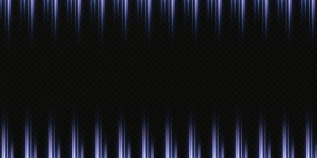 Neonowe światła abstrakcyjne. świecące pionowe promienie światła w tle
