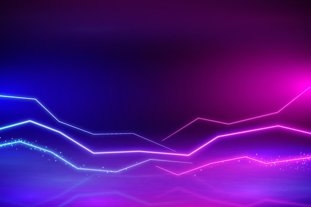 Neonowe tło gradientowe
