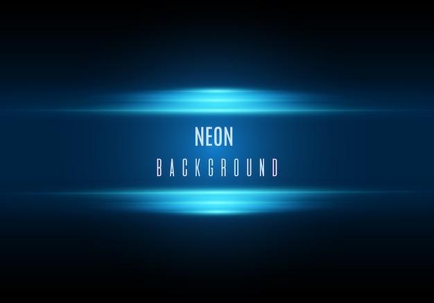 Neonowe tło. ilustracja z efektem światła niebieskiego.