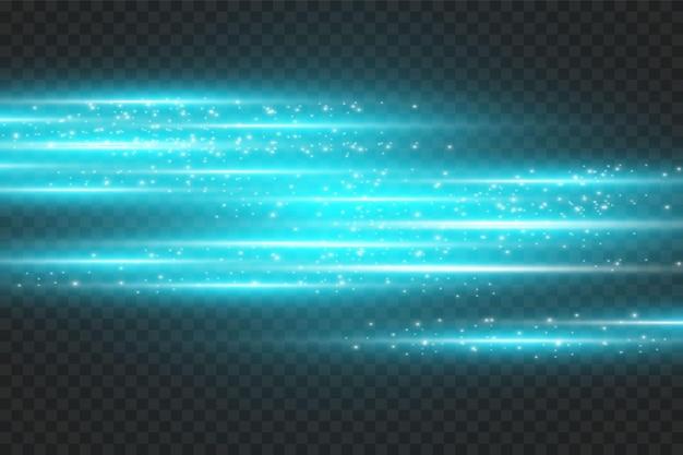 Neonowe tło. ilustracja z niebieskim efektem świetlnym.