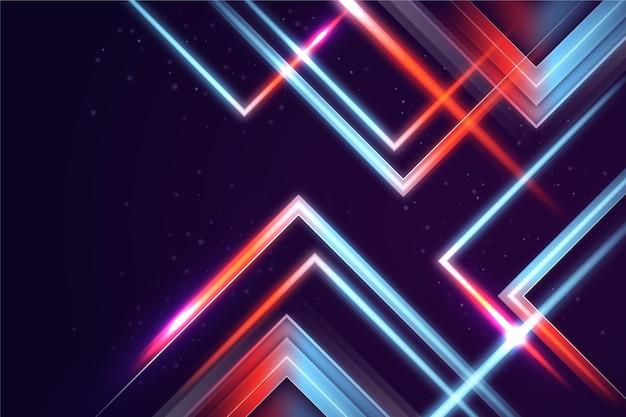Neonowe tło o geometrycznych kształtach