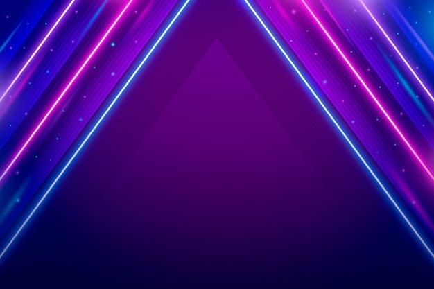 Neonowe tło projektu