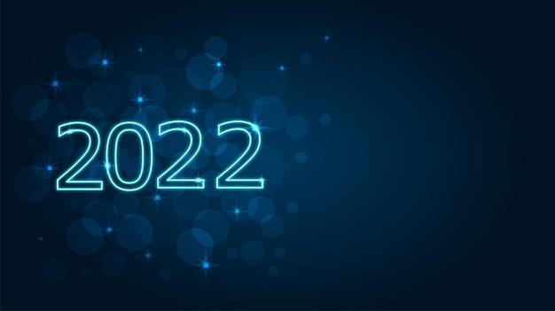 Neonowoniebieskie cyfry na tle bokeh w odcieniach granatu i jasnoniebieskiego.