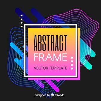 Neonowy abstrakcjonistyczny tło
