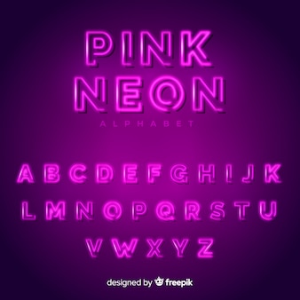 Neonowy alfabet