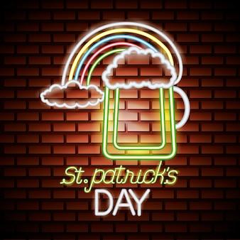 Neonowy dzień świętego patryka