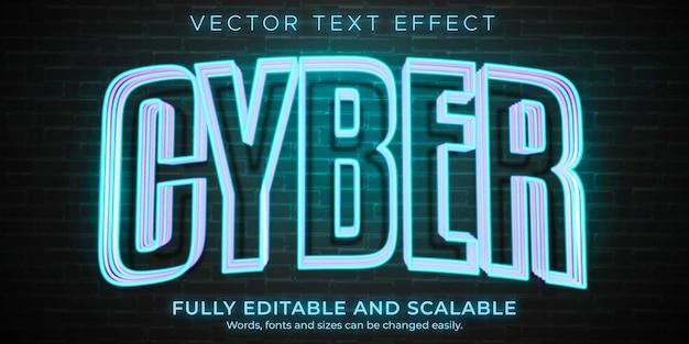 Neonowy efekt tekstowy, edytowalny styl retro i świecący tekst
