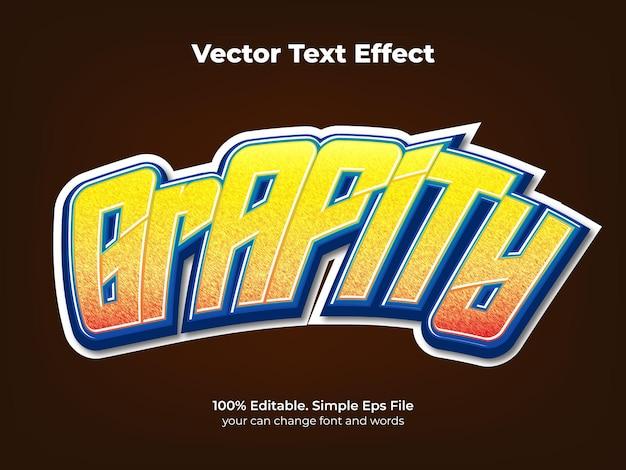 Neonowy Efekt Tekstowy Graffiti Premium Wektorów