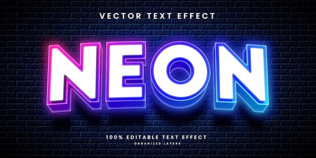 Neonowy efekt tekstowy