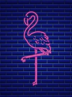 Neonowy flaming w neonie
