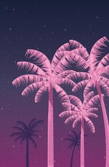 Neonowy krajobraz retro