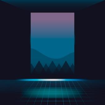 Neonowy krajobrazowy tło
