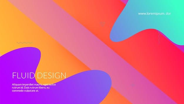 Neonowy kształt. wzór geometryczny. kreatywna tapeta. fioletowy modny transparent. strona docelowa fali. minimalna ulotka. żywy papier. tech streszczenie tło. fioletowy neonowy kształt