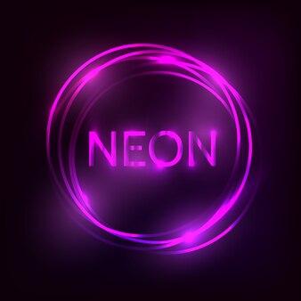 Neonowy napis.