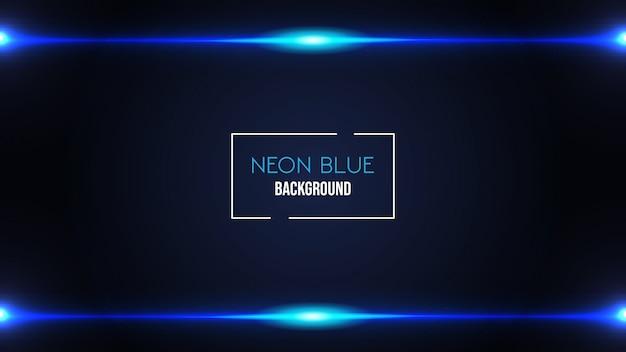Neonowy niebieski kolor tła