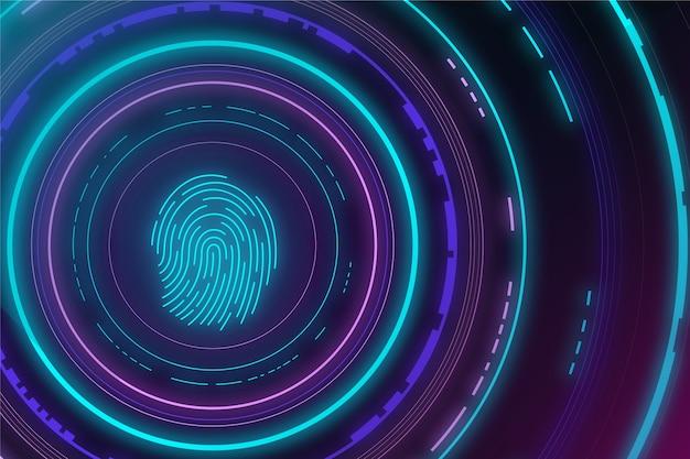 Neonowy odcisk palca w tle