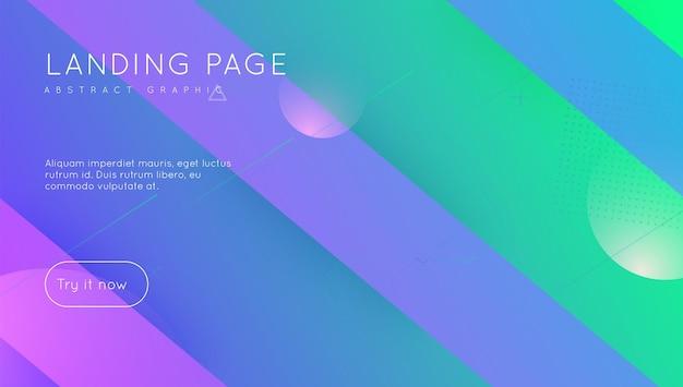 Neonowy projekt. element tęczy. jasna strona. fioletowy plakat mobilny. płaska strona docelowa. fajna nowoczesna ulotka. minimalny kształt. kolorowa broszura. magenta neon design