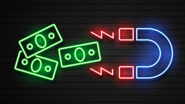 Neonowy projekt redukujący pieniądze