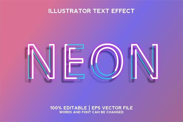 Neonowy szablon efektu tekstowego 3d