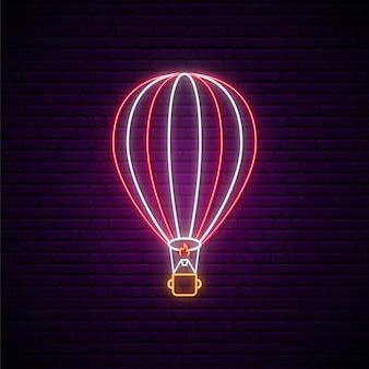 Neonowy szyld do pokazu balonów powietrznych