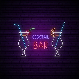 Neonowy szyld koktajlowy