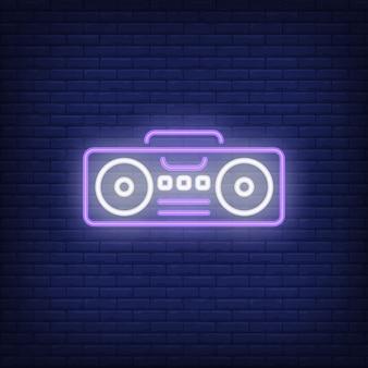 Neonowy znak boombox