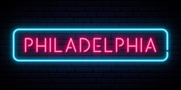 Neonowy znak filadelfii.