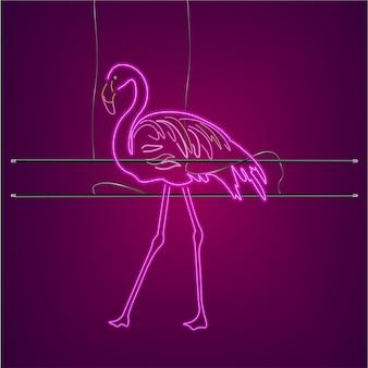 Neonowy znak flaminga