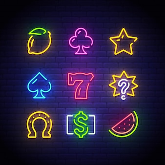 Neonowy znak kasyna