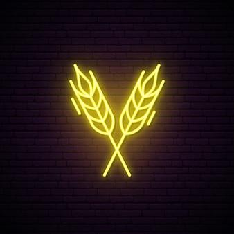 Neonowy znak kolców pszenicy.