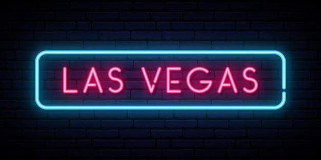 Neonowy znak las vegas.