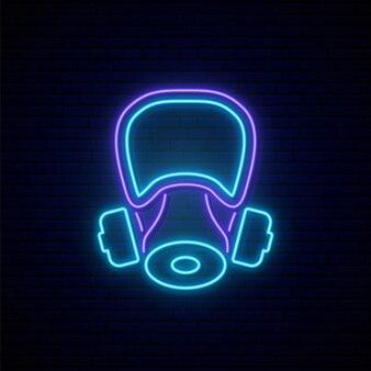 Neonowy znak maski gazowej.