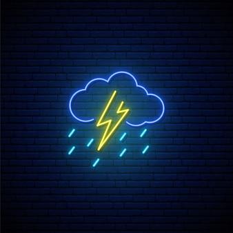 Neonowy znak pogodowy.