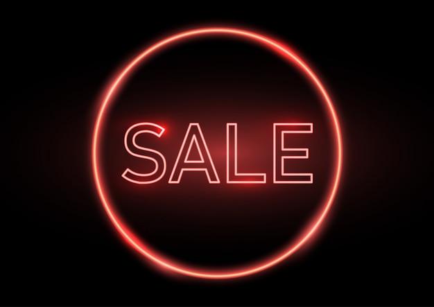 Neonowy znak sprzedaży
