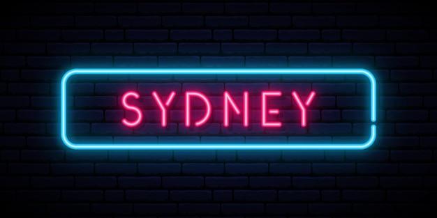 Neonowy znak sydney.