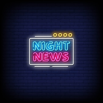 Neony night news