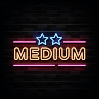 Neony średniego poziomu. zaprojektuj szablon w stylu neonowym